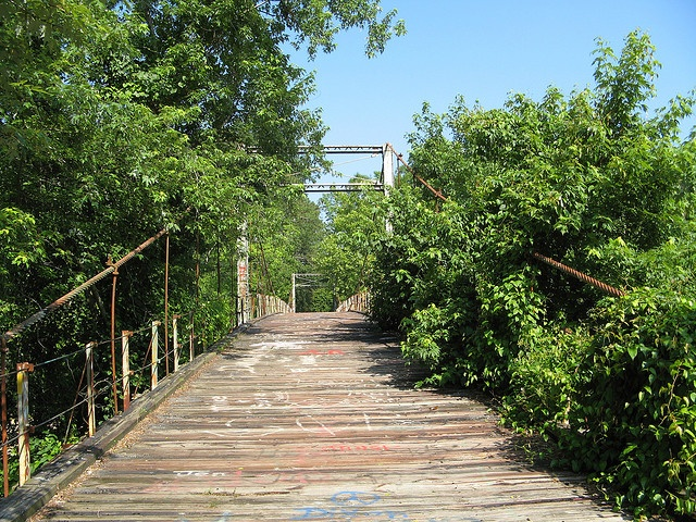 Question Mississippi swinging bridge you cannot