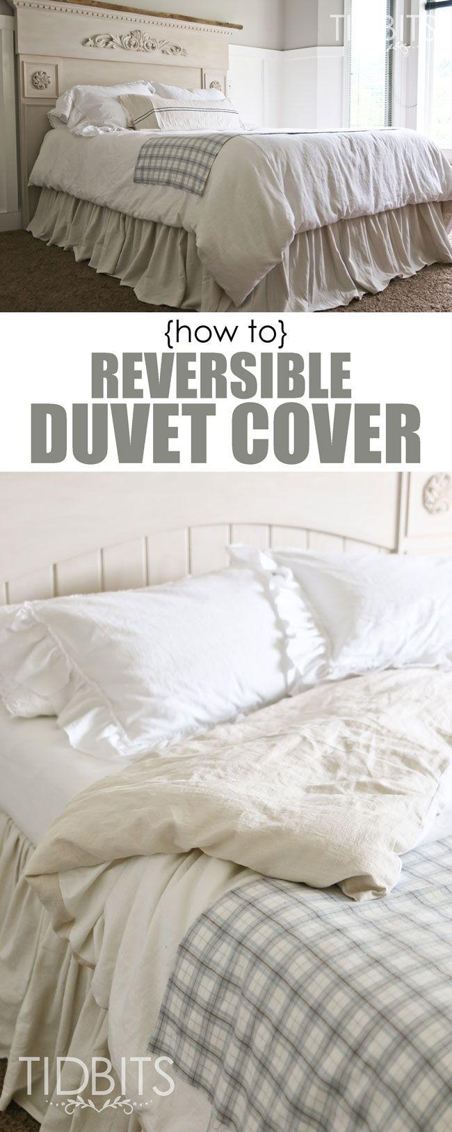 How to Make a Reversible Duvet Cover - Tidbits