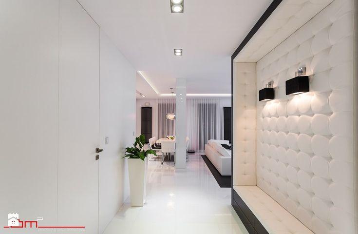 czarno- biały apartament 125m2 - Hol / przedpokój, styl minimalistyczny - zdjęcie od bm2 brzostek maciej