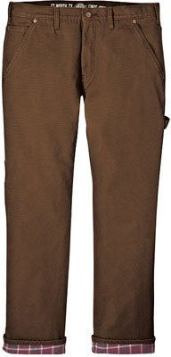 Men's Dickies Relaxed Straight Fit Flannel-Lined Carpenter Jean