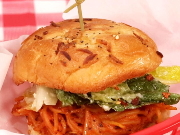 A little crazy? Yes. Completely delicious? Double yes. Don't knock the spaghetti sandwich until you try it!