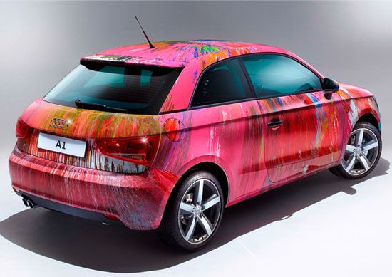 damien hirst audi a1 for charity