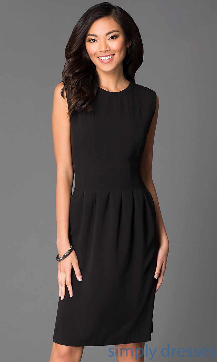 Dress, Sleeveless Knee Length Black Dress 87143 - Simply Dresses