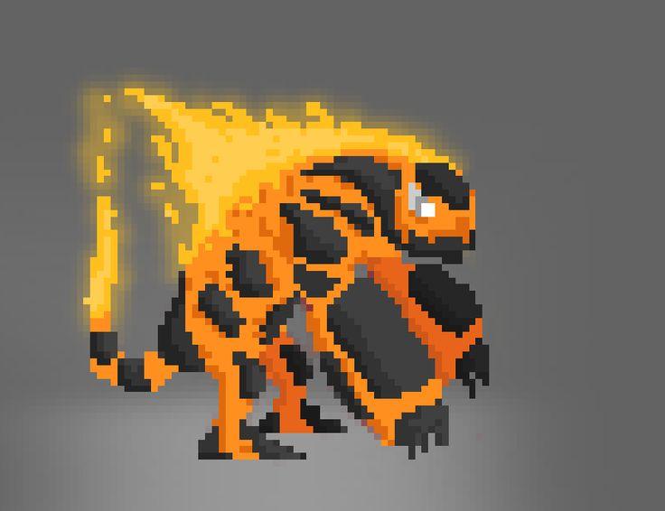 #FlameColossus  #PixelArt #Photoshop