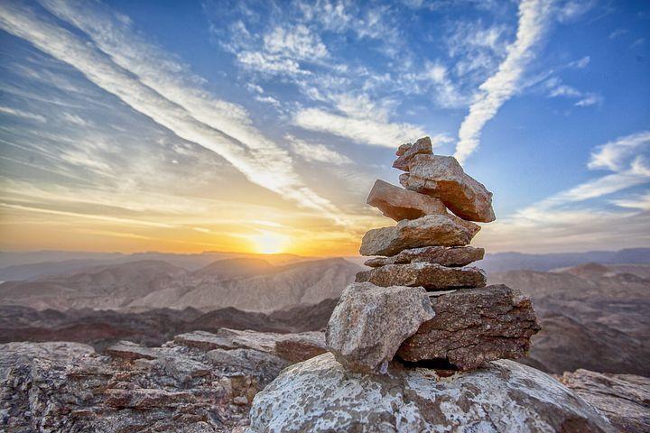 Sonnenuntergang, Berg, Nach Oben