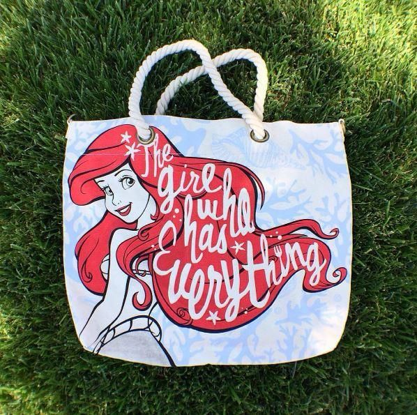 For the girl who has everything // Loungefly Disney The Little Mermaid Ariel Canvas Rope Handle Tote