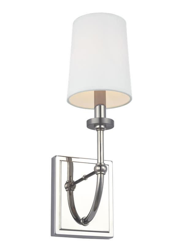Wb1898pn 1 Light Wall Sconce Polished Nickel Sconces Wall Lights Wall Sconce Lighting