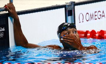 Simone Manuel Makes Swimming History In Women's 100-Meter Freestyle