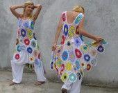 Robe Coloré Crochet Haute-Basse S/M/L : Robe par keltys