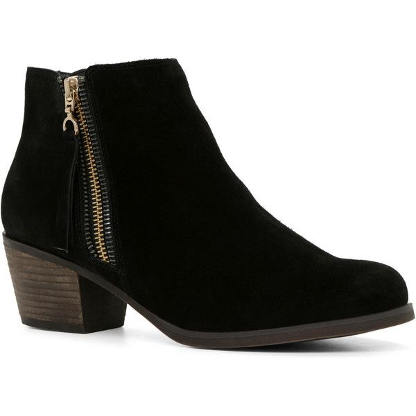 Suede Black Ankle Boots - Cr Boot