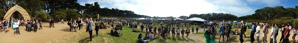 The Golden Gate Park Polo Field at Outside Lands 2014, San Francisco.