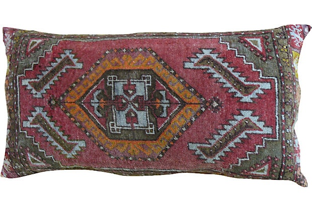 Oushak Pillow, Burnt Orange & Red: Living Rooms, Eastern Handcrafted, House Ideas, Burnt Orange, Vintage, Eastern Art, Nights Middle Eastern, Arabian Nights Middle, Pillows
