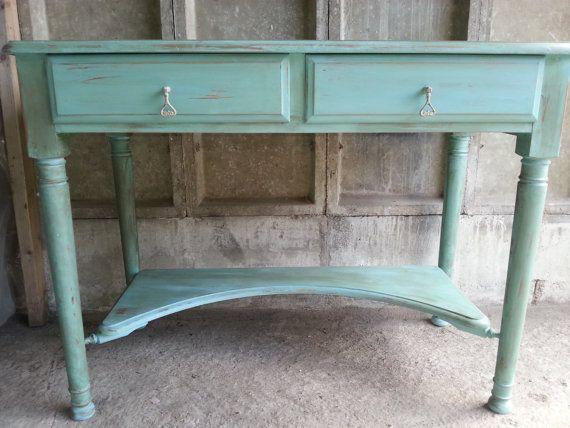 vintage shabby chic style distressed desk annie sloan inspirations pinterest distressed. Black Bedroom Furniture Sets. Home Design Ideas
