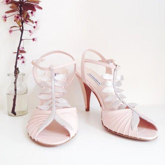 love shoes addict mariage patricia blanchet Escarpins MARIUS rose poudré glitter  bride wedding chaussures