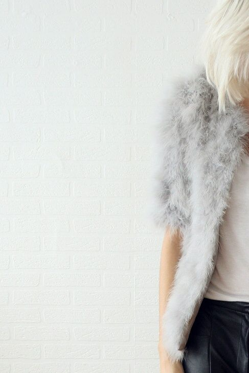 faux gray fur