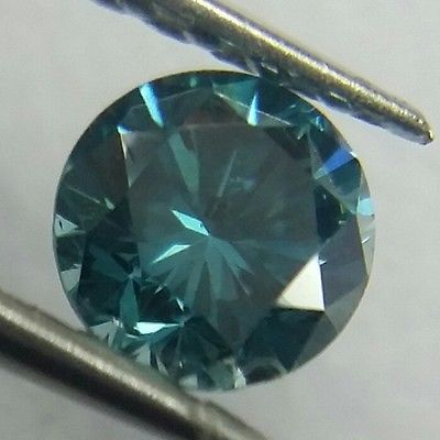 Natural 0.04 ct VVS2 Fancy Greenish Blue Color Round Cut Loose Diamond.. USD 27.0
