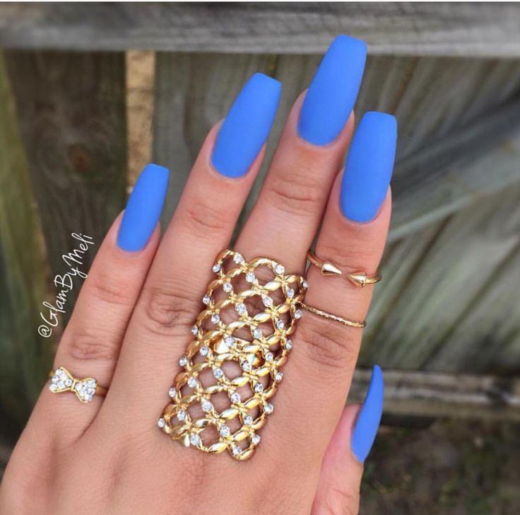 matte light blue fancy claws