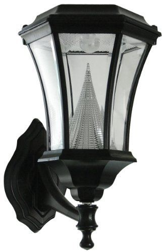 Wall Mounted Lamp Posts : Gamasonic GS-94W Wall Mounted Victorian Solar LED Lamp Post, Black by Gamasonic. USD 119.00. From ...