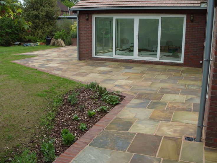 New riven York Stone paving supplied by www.agstone.co.uk