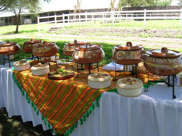 cazuelas!!! for something!! maybe we can pour candies in there like a pinata!
