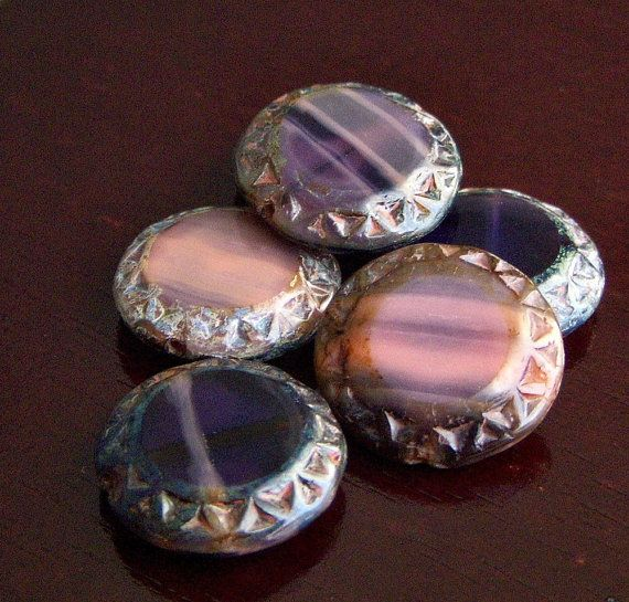 heavenly czech glass chunky bead 16mm picasso by 390
