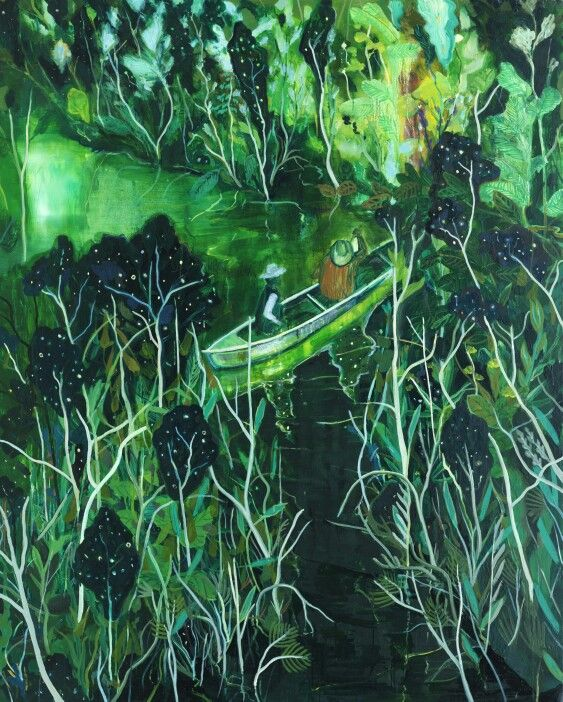 Bibo no Azora. Oil on canvas. 130.3x162.2cm. 2015. By Kang cheol-gyu.art