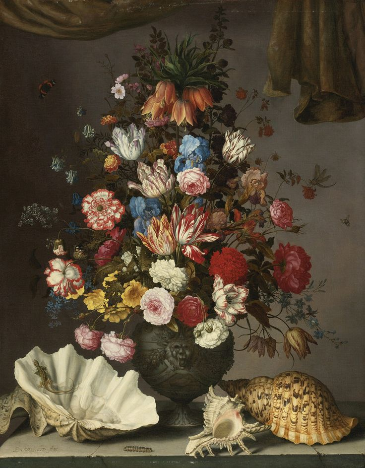 Balthasar van der Ast - Still Life with Flowers, Shells and Insects