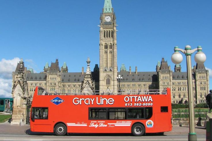 """Gray Line Ottawa. """"Hop-on, hop-off"""" tours offer stops at all of the city's main attractions aboard a double-decker bus. For more information on Tours & Sightseeing visit www.ottawatourism.ca/en/visitors/what-to-do/tours-and-sightseeing"""