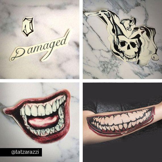 bd045aa627e33 ALL Joker Jared Leto Temporary Tattoo Cosplay by Tatzarazzi | Kewl | Joker  mouth tattoo, Joker smile tattoo, Jared leto joker tattoo