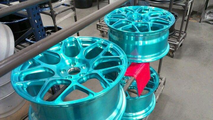 Teal wheels