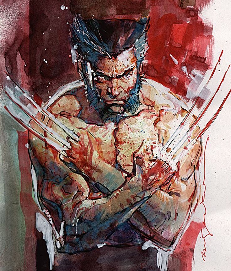 astonishingx:  Wolverine by Bill Sienkiewicz