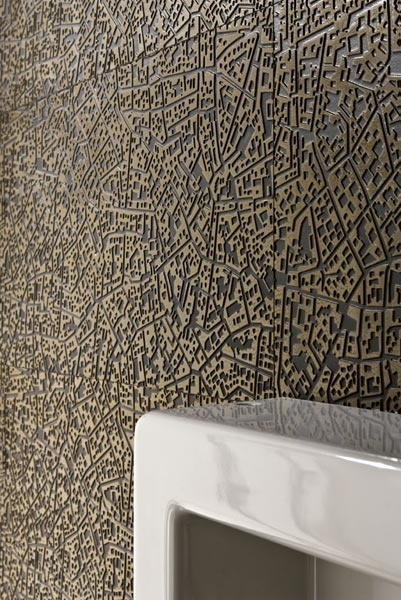 """""""City"""" by Diego Grandi for Lea Ceramiche; based on aerial city views. Yes, this is tile!"""