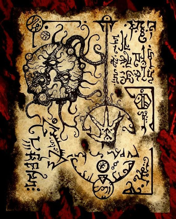 cthulhu SIGN OF SKELOS Necronomicon Fragment larp magick by zarono