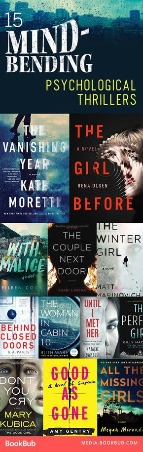 15 heart-stopping, must-read psychological thriller books.