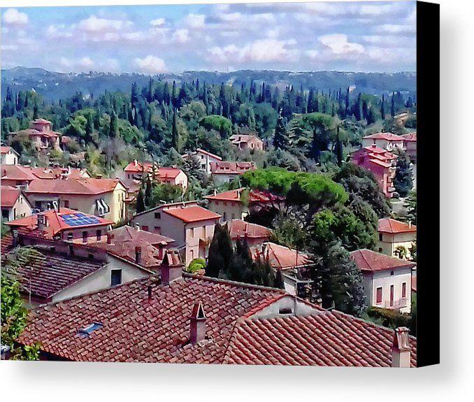 Cetona Canvas Print featuring the photograph Outskirts Of Cetona Tuscany 2 by Dorothy Berry-Lound #italytravel #cetona #tuscany #italia