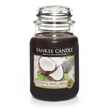 Coconut & Vanilla Bean : Large Jar Candle : Yankee Candle : So creamy and luscious. . . pure coconut and warm vanilla create the ultimate island treat.