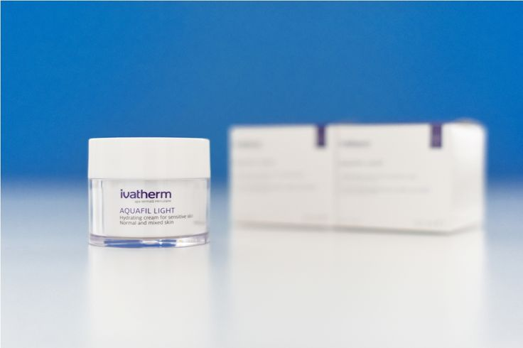 #AQUAFIL LIGHT is a cream for intensive hydration of #sensitive, dehydrated normal and mixed #skin. #IVATHERM