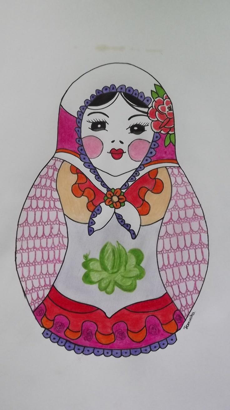 russian doll matriochka draw my work