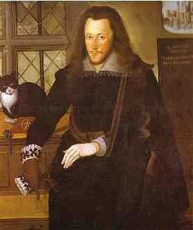 A portrait of the Earl of Southampton, imprisoned in the Tower of London with his pet cat. By John de Critz, 1603. The Earl of Southampton was the right-hand man of the Earl of Essex. Southhampton worked for Francis Walsingham and later Robert Cecil (Secretary of State). He was imprisoned in the Tower when Essex was beheaded for treason but was eventually released.