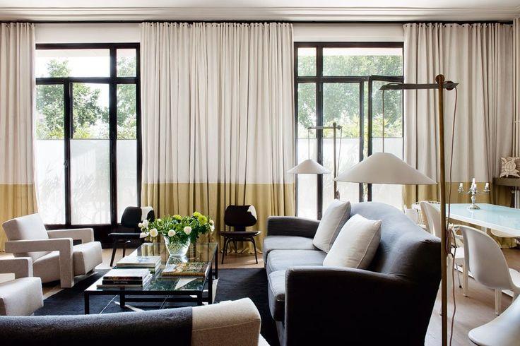 Un salon entre raffinement et design