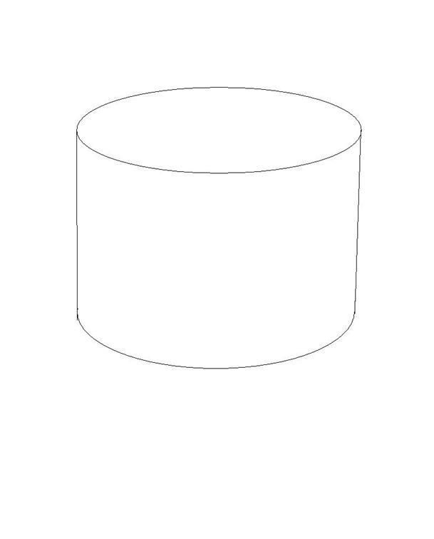 one layer cake template