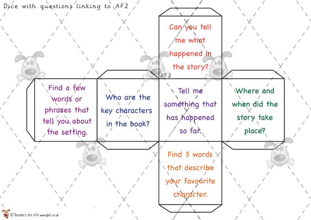 Teacher's Pet - Reading Question Dice - Premium Printable Classroom Activities and Games - EYFS, KS1, KS2, guided reading, stories, books, A...