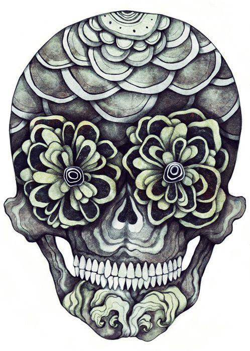 trippy: Skull Drawing Skull Art Of The Dead Sugar Skulls Tattoo ...