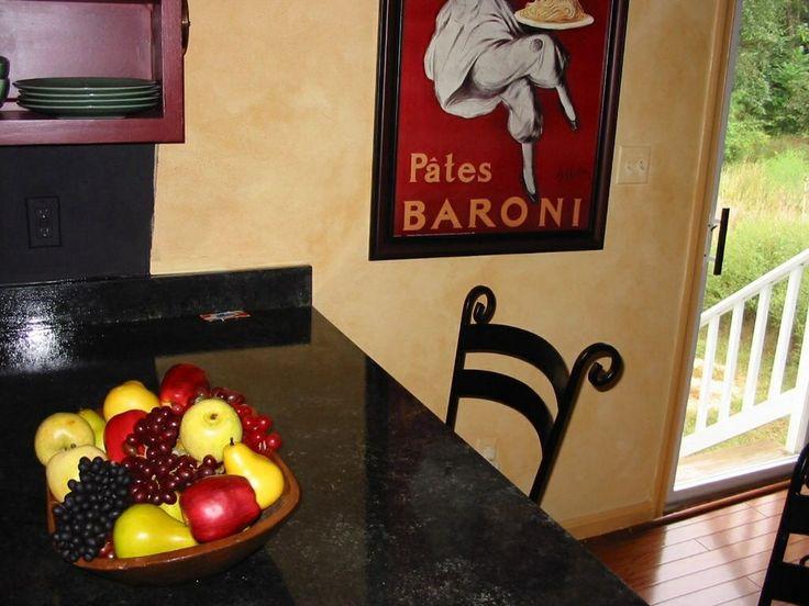 Painted granite on Formica countertop