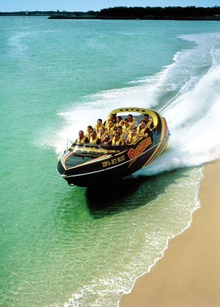 Operating in areas of the Gold Coast Broadwater and Moreton Bay Marine Park exclusive to Paradise Jetboating, our rides are famous for their unique combination of Jet Boat Thrills & Excitement mixed with Stunning Scenery & Sightseeing.