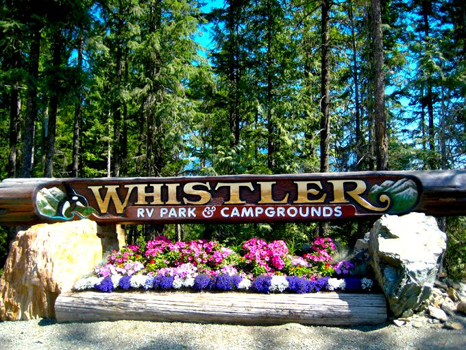 Whistler RV Park Campground At British Columbia Canada