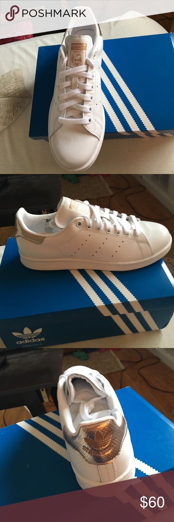 Rose gold Stan smiths Never worn rare Stan smiths! I have size 7.5 and 8 Adidas Shoes Athletic Shoes