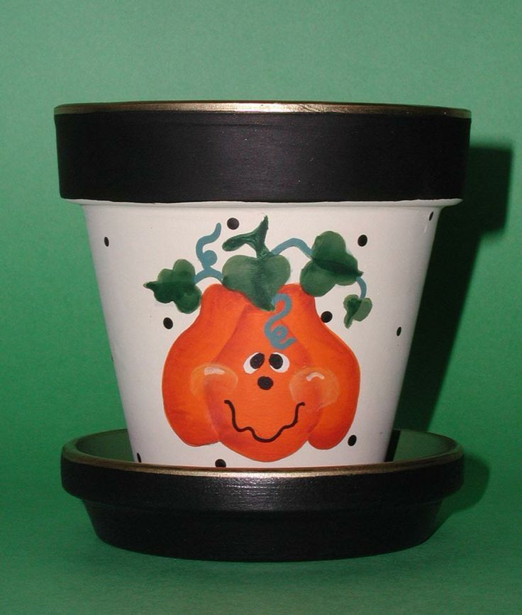 17 best images about flower pots fall on pinterest for Art and craft pot decoration