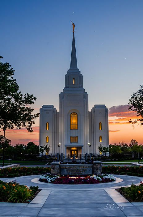 The Brigham City Temple with the Big Dipper in the sky.