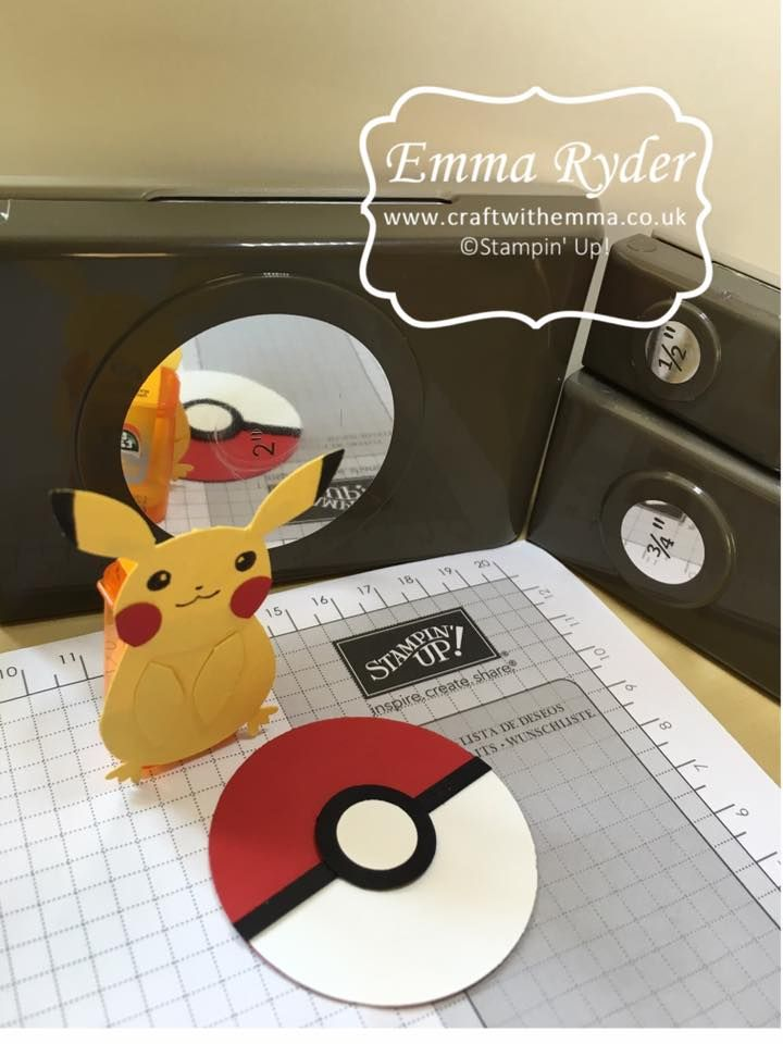 Pokemon Pokeballs, circle punches (this project is not on her blog, she posted on FB, just making sure to give credit where credit is due :) )
